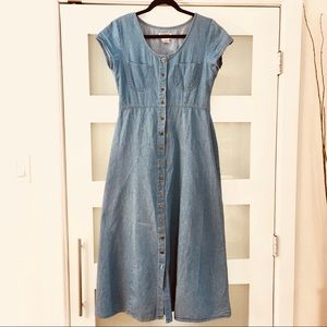 90's Denim Midi Dress